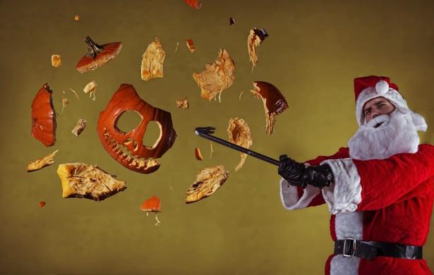 santa pumpkin